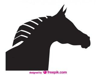 Desenho da cabeça de cavalo vector silhouette