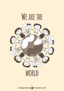 Crianças na glob