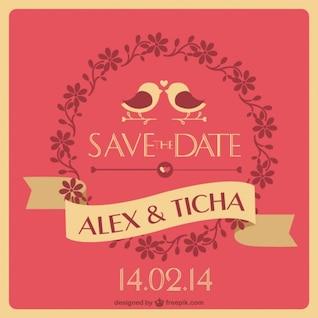 Convite original do casamento