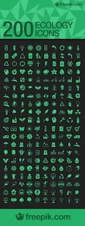 Pacote de ícones da ecologia do vetor