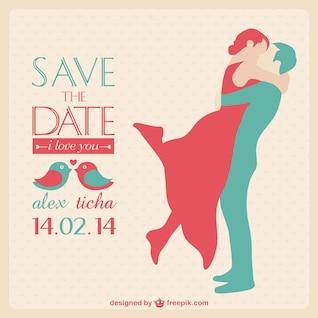 Convite do cartão de casamento