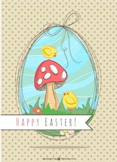 Easter ilustração natureza projeto