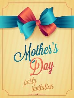Dia cartão de impressão da mãe