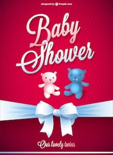 Bebê chuveiro vetor livre cartão