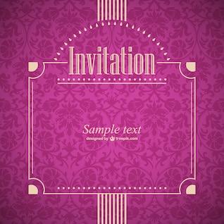 Convite do vetor do estilo retro
