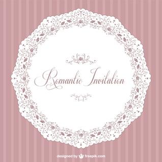 Retro convite romântico vector