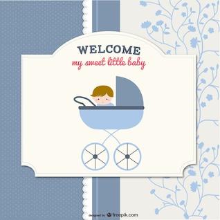 desenho vetorial cartão de bebê