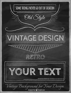 Modelo de cartaz do vintage