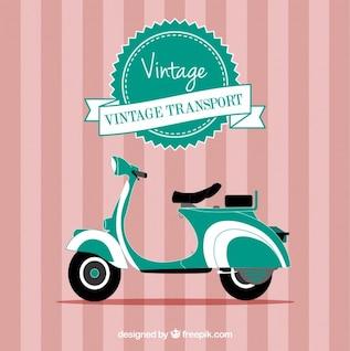 Vetor vintage motocicleta
