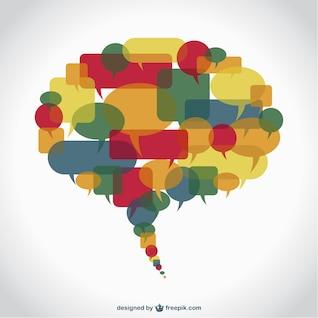 Balão de fala ilustração plana vetor