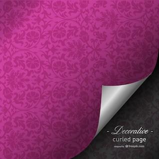 Fúcsia enrolado design da página