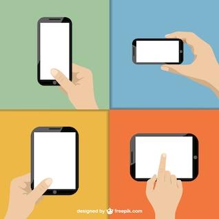 Tela sensível ao toque de tecnologia vetor