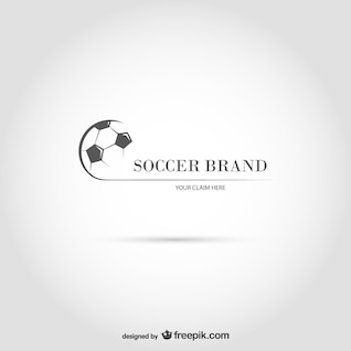 Modelo de marca de futebol vetor
