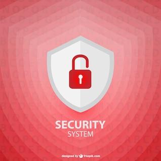 Template vector escudo de segurança