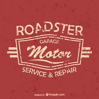 Auto serviço e garagem livre vector