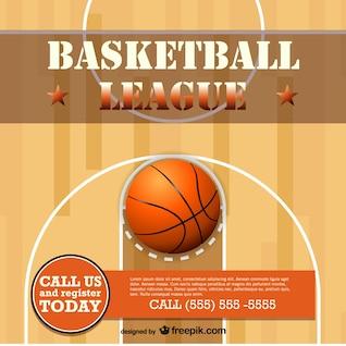 Projeto modelo livre vetor de basquete