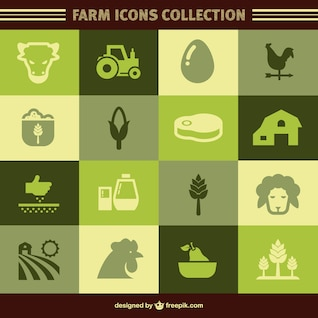 ícones do vetor fazenda orgânica