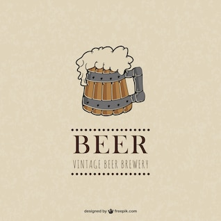 Vetor vintage cerveja ilustração