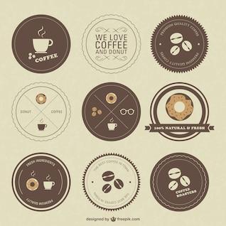Retro cafés emblemas