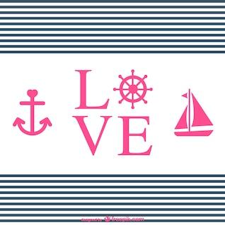 Amor tipografia projeto náutico