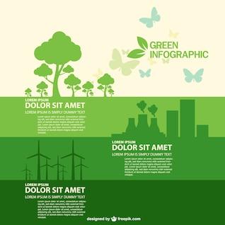 Livre do vetor do estilo infográfico ecologia