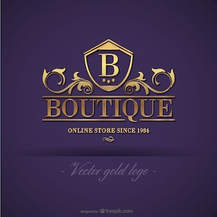 Logo design boutique ouro