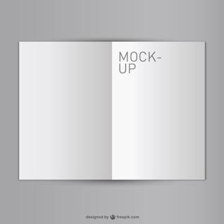 Em branco livro aberto mock-up gratuito