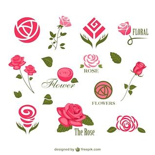 Flor do vetor logos modelos