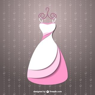 Vestido de noiva de vetor livre