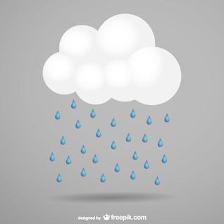 Vetor da nuvem de tempestade livre