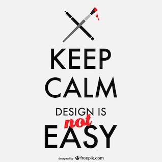 Manter a calma projeto não é fácil cartaz