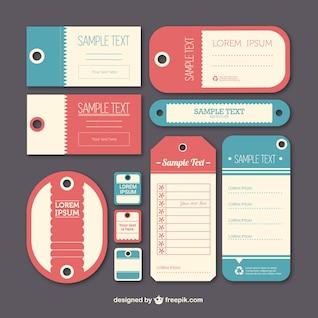 Vindima modelo etiquetas etiqueta