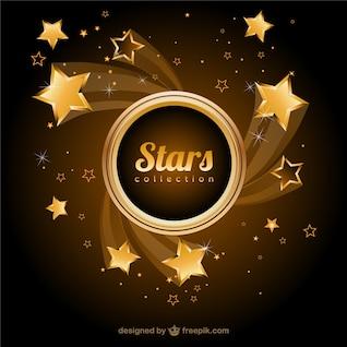 Estrelas douradas do vetor