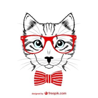 Ilustração vetorial moderno gato