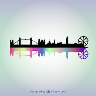 London paisagem urbana do vetor