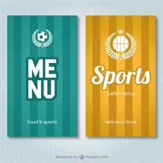 Menu da barra de esportes do vetor