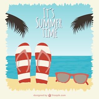 Ilustração vetorial horário de verão