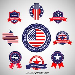 Do dia da independência stickers set
