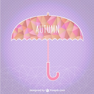 Guarda-chuva de outono modelo geométrico