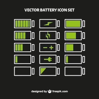 Vector conjunto de nível de bateria