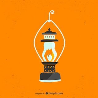 Lanterna retro livre do vetor da arte