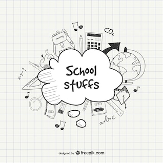 Escola modelo esboçado
