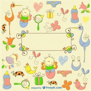 Doodle do bebê gráficos