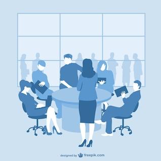 Reunião de negócios gráficos livres