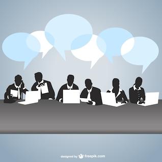 Arte vetor reunião de negócios