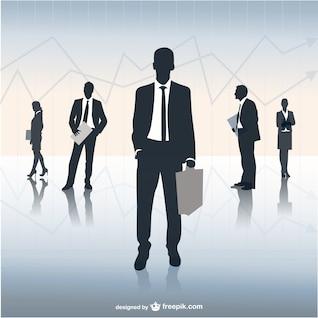 Ilustração da equipe de negócios
