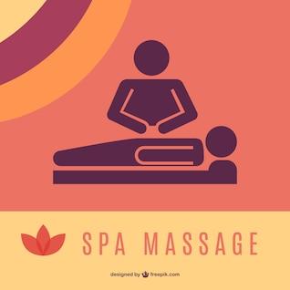Logotipo massagem gráficos
