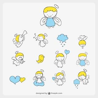 Bonito dos desenhos animados anjinho