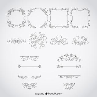 Quadros e ornamentos caligráficos