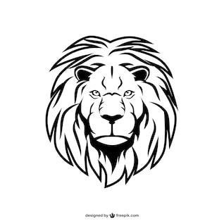 Arte leão vetor animal